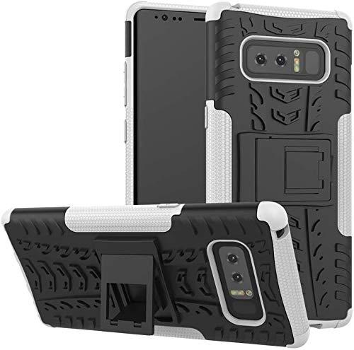 Capa Capinha Anti Impacto Para Samsung Galaxy Note 8 com Tela de 6.3polegadas Case Armadura Hybrid Reforçada Com Desenho De Pneu - Danet (Preto com branco)
