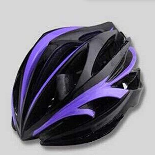 Kaper Go Einteiliger Reithelm 24-Loch Leichter Sturzhelm Helm for Männer und Frauen Breathable Dead Fly Fahrradhelm (Farbe : Purple)