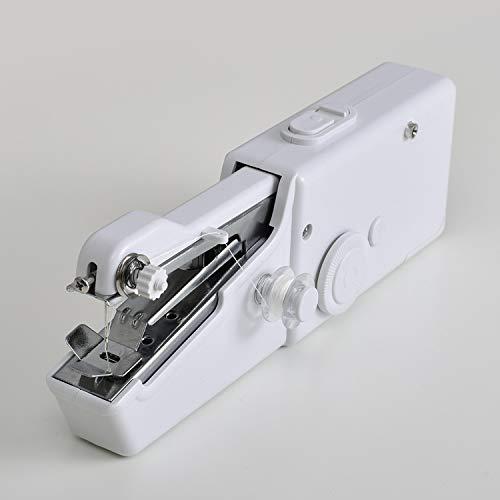 Cumpleaños * 2018 Mini máquinas de coser portátiles de mano Puntada Costura Costura Ropa inalámbrica Telas Electrec Máquina de coser Juego de puntadas 15-Adaptor-