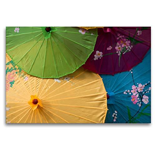 CALVENDO Premium Textil-Leinwand 120 x 80 cm Quer-Format Sonnenschirme, Leinwanddruck von Alain Gaymard