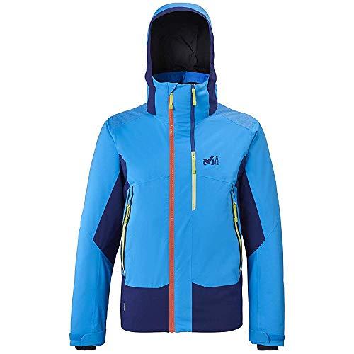 Millet 7/24 Stretch JKT Veste de Ski Homme, Orange/Poseidon , FR : XL (Taille Fabricant : XL)