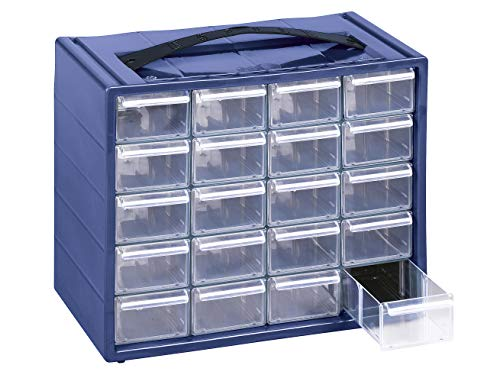 cassettiera viti Cassettiera Monoblocco Mobil Plastic 'Espace 20' in Resina Antiurto e Cassetti Infrangibili con Fermo e divisori estraibili.