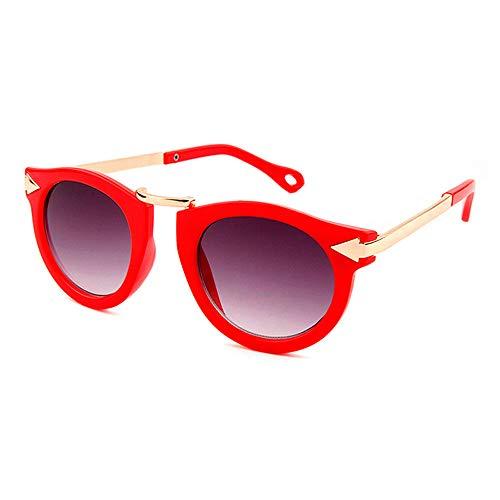 JHGK Gafas De Sol De Moda para Niños, Hombres Y Mujeres Gafas De Sol Gafas De Sol Gafas De Sol De Marco Redondo,1