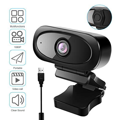 VIFLYKOO Webcam 1080P mit Mikrofon, USB HD 1080P Pro Streaming Webcam mit 95 ° Weitwinkel Gelten Laptop, Computer, PC, Desktop für Videoanrufe,Spiele,Live-Streaming und Konferenzen