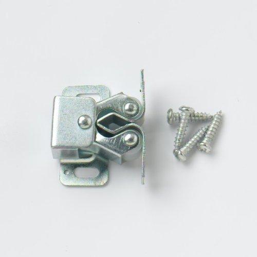Bulk Hardware BH00045 Verzinkte doppelte Rollen-Schrankhaken (Packung à 4)