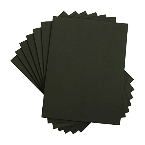 Houseables Eva Foam Sheets, Craft Art Supplies, 6mm Thick, Black, 10 Pack, 9 X 12 Inch, Paper Scrapbooking, Cosplay, Crafting Foams Paper, Foamie Crafts, for Kids, Boy Souts, Halloween, Shoe Insole