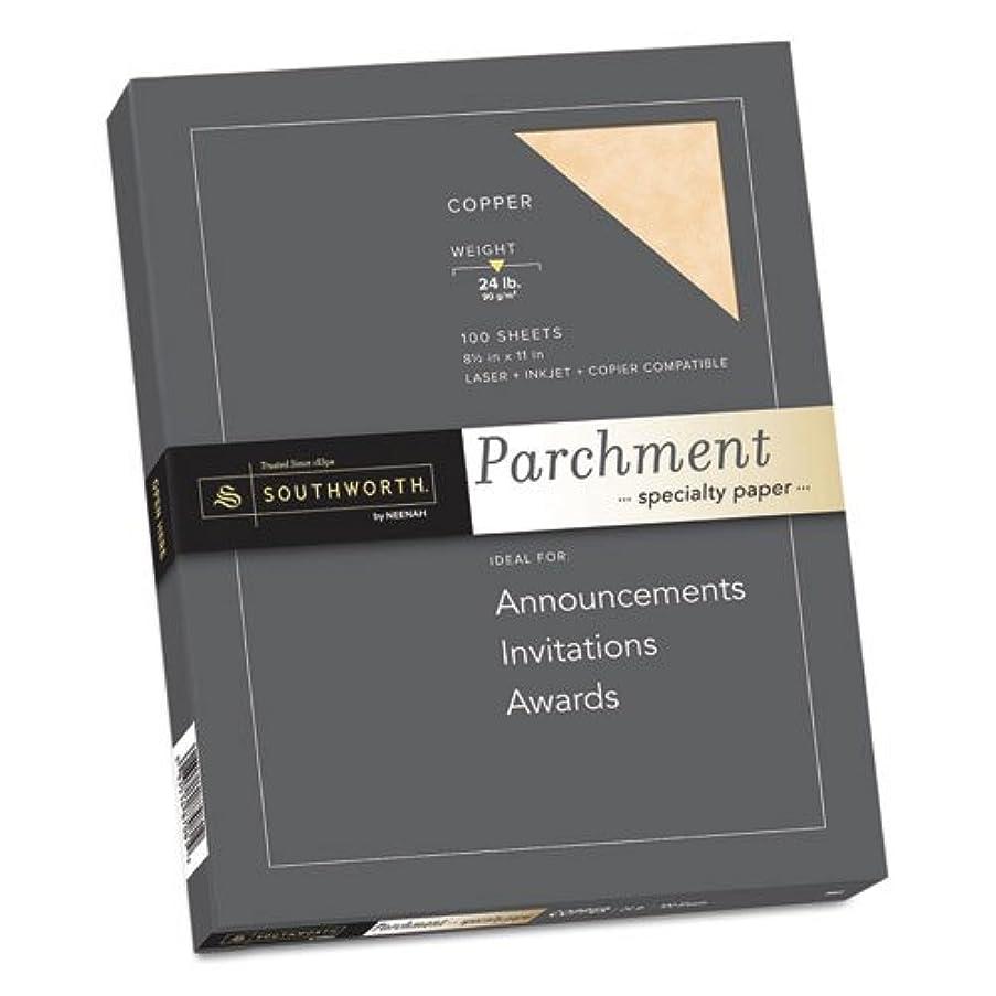 Southworth Parchment Specialty Paper, Copper, 24 lbs, 8-1/2 x 11, 100/Box
