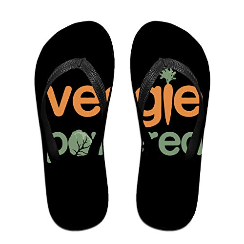 Iop 90p Veggie Vegetable Powered Vegetarian Flip Flops Slippers Beach Sandals Pool Shoes