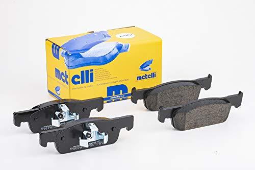 metelligroup 22-0975-0 Pastiglie Freno Anteriori, Made in Italy, Pezzo di Ricambio per Auto   Automobile, Kit da 4 Pezzi, Certificate ECE R90, Prive di Rame