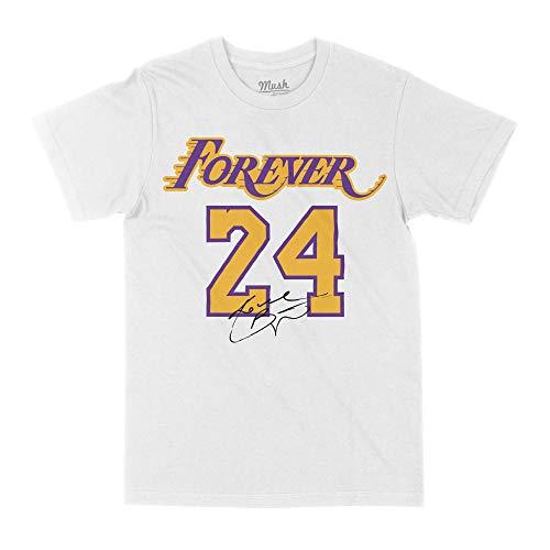 MUSH T-Shirt Heavy Bianca Unisex - Forever 24 Kobe Bryant Los Angeles Lakers, XL