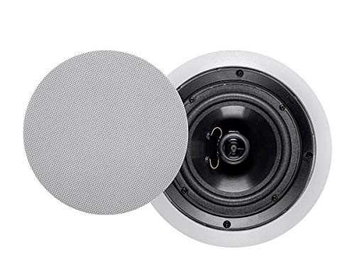 Monoprice Aria 2-Way Polypropylene Ceiling Speakers - 6.5 Inch (Pair) with Paintable Grille