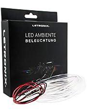 LETRONIX LED lichtbalk sfeerverlichting sfeer auto 12V 2M lichtgeleider (ijsblauw)