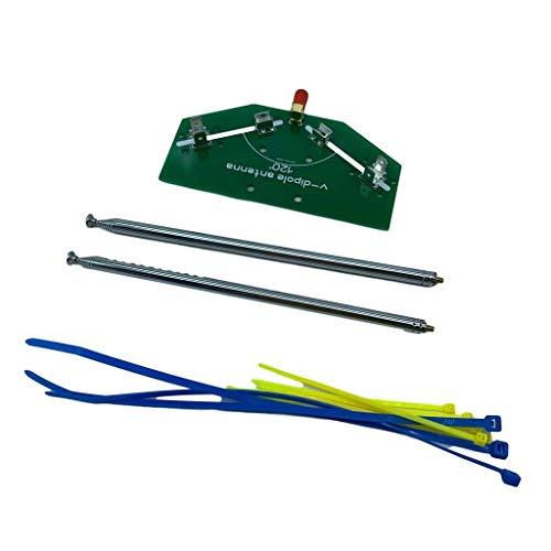 kdjsic 78M-1 GHz Frequenzempfang 137MHz Positive V-Horn-Antennenstange V-Dipol-Oszillator DIY-Kits