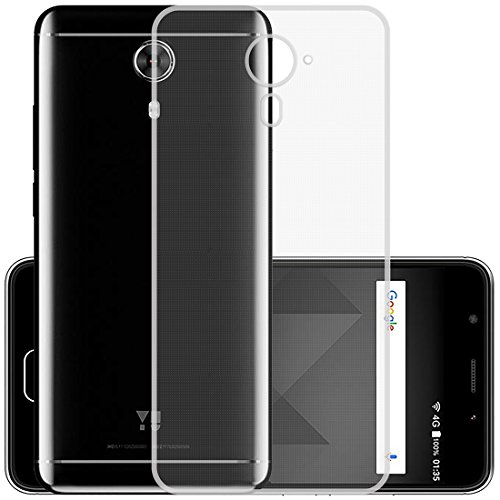 Casotec Soft TPU Back Case Cover for Micromax Yu Yureka Black - Clear