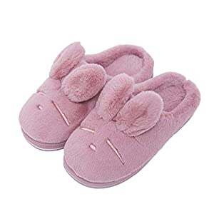 Asche Women's Soft Memory Foam Slippers Indoor&Outdoor House Shoes Fluffy Faux Fur