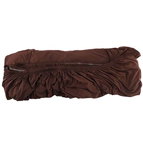 YZY Sofabezug , Polyester 3 + 2 Sitz Eck Sofabezug , 2 Stück L-Form Stretch Schonbezug , Wohnmöbelschutz (Kaffee)