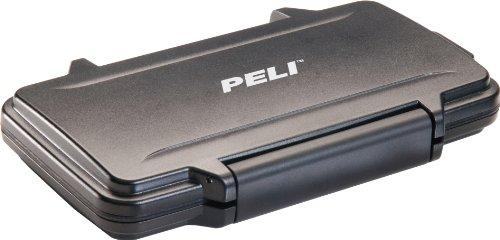 PELI 0915 Speicherkarten Case, IPX4 Wasserfest, 0,1L Volumen, Hergestellt in den USA, Schwarz, Black, kleiner sd-karten koffe, 0910-015-110E