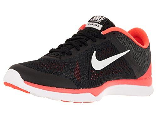 Nike Damen WMNS Season TR 5 Turnschuhe, Black (Schwarz/Segel-Brght Mango-Anthrct), 36.5 EU