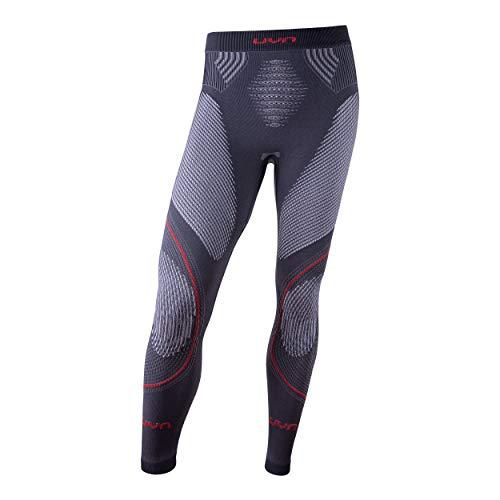 UYN Eolutyon - Pantalón íntimo térmico Largo técnico para Hombre, Hombre, U100005, Charcoal/White/Red, Small/Medium