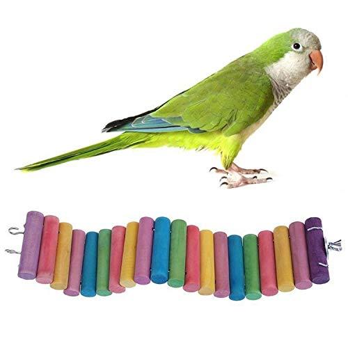Speelgoed voor huisdieren 3 PCS-papegaaien vogel hamster kleur rond hout klein plank road ladder speelgoed, grootte: 60 cm, Primary Color