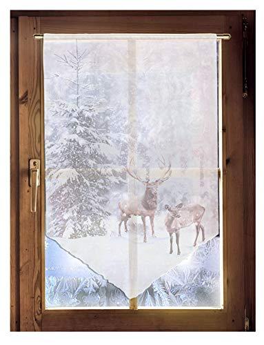 Scheibenhänger Winter Weihnachtsgardine winterliche Landhausdeko in 2 Größen