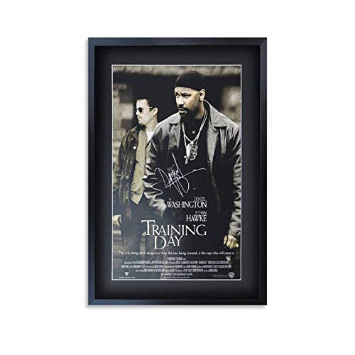 Movie Poster Training Day Denzel Washington Signed Gift Canvas Art Poster and Wall Art Picture Print Modern Family Bedroom Decor Posters 08x12inch(20x30cm)