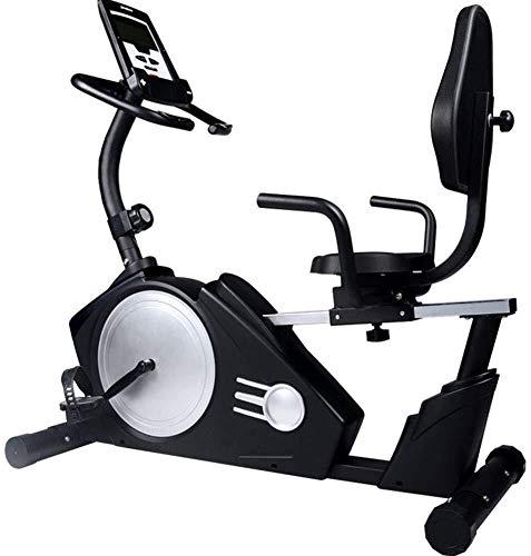 BXU-BG Magnética reclinada Bicicleta estacionaria Capacidad de Asiento Ajustable y Transporte Ruedas