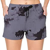 Kcutteyg Workout Shorts for Women with 3 Pockets (Gray Ink)