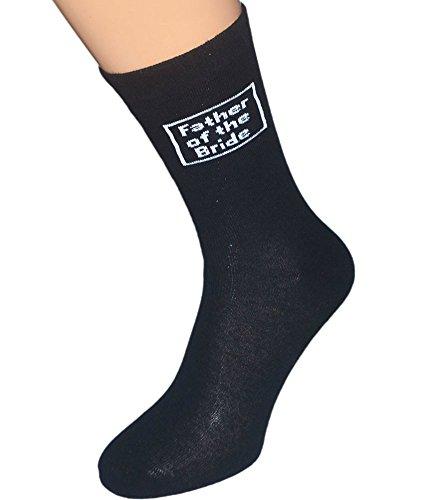 Oaktree Gifts Herren Socken für Hochzeitstag, Baumwolle, Schwarz - Schwarz -