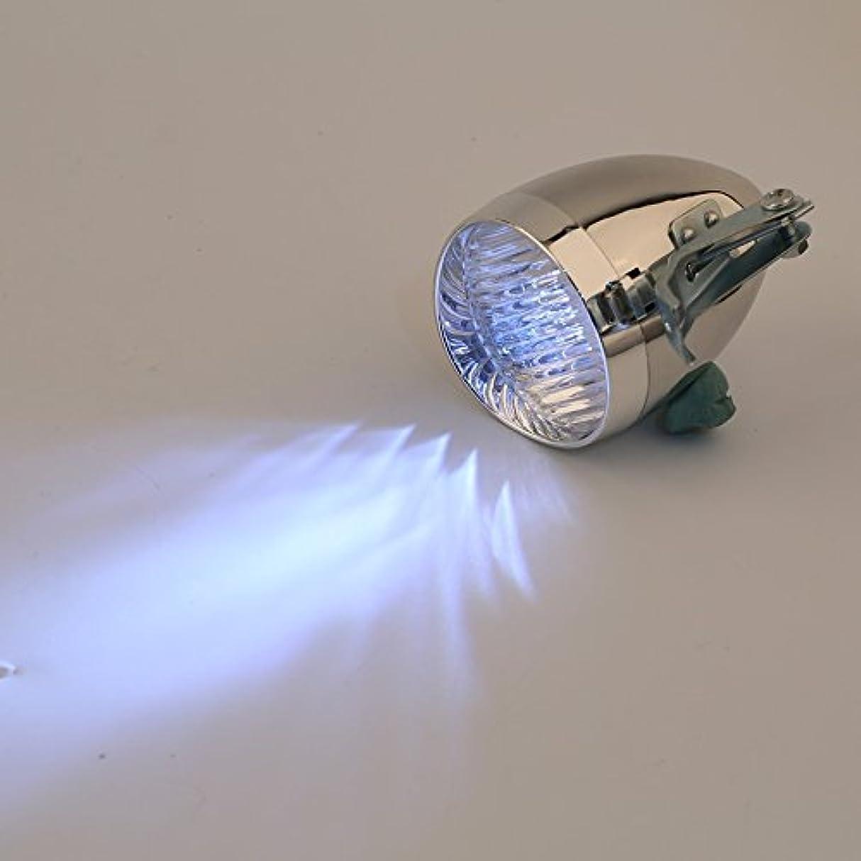 機械株式立法3?LED自転車自転車明るいフロントライトヘッドライトヴィンテージ懐中電灯ランプ