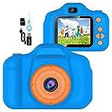 YunLone ToyZoom Cámara para niños Cámaras Digitales Regalos de cumpleaños niños Niñas Video Camara pequeños 1080P IPS 2 Pulgadas - Azul