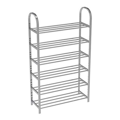 Jixi Zapatero de rejilla de alambre apilable simple para el hogar (3 – 6 niveles), estante para zapatos (tamaño XL)
