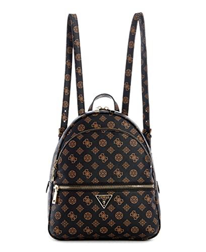 Guess Damen Backpack Manhattan Rucksack Large, Mokka-Logo, One Size