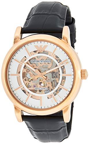 Emporio Armani Herren Analog Automatik Uhr mit Leder Armband AR60007