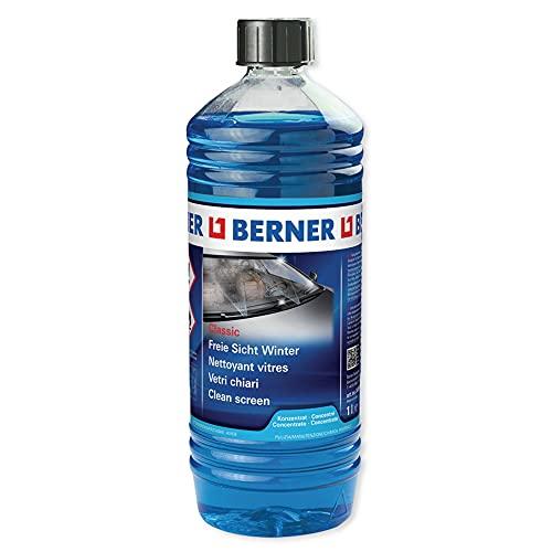Berner Liquido lavavetri, Estate e Inverno Non congela Fino a -20° Super contrato da 1l