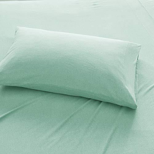 Urban Habitat Cold Weather Sheet Set Bedding 100% Cotton Ultra Soft, King, Aqua