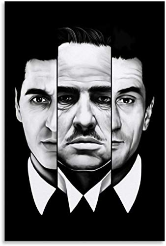ZRRTTG Canvas Wall Art Painting Poster The Godfather Movie for Room Decoration Artwork Print Posters 15.7'x23.6'(40x60cm) NO FRAME