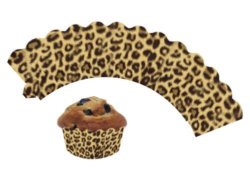 DH-Konzept 12 Cupcake * LEOPARD * Deko Banderolen Muffinförmchen Muffin Förmchen Kindergeburtstag Geburtstag Party Kuchen Wilde Tiere Safari Dschungel
