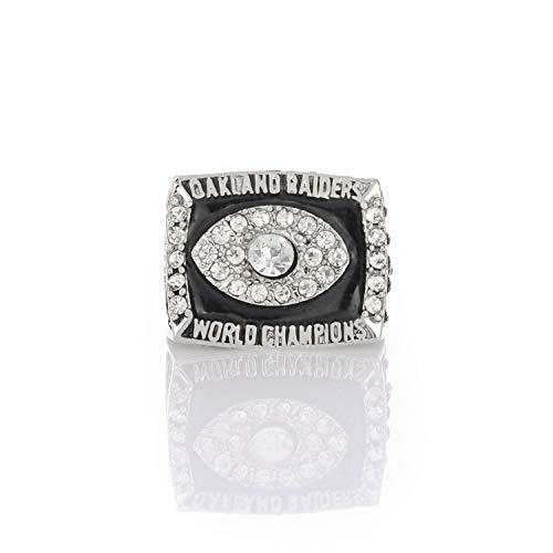 Jiustars 1976 Oakland Raiders Super Bowl XI Championship Ring for Fans Collectible Gift Size 8-14 (Without Box,9)