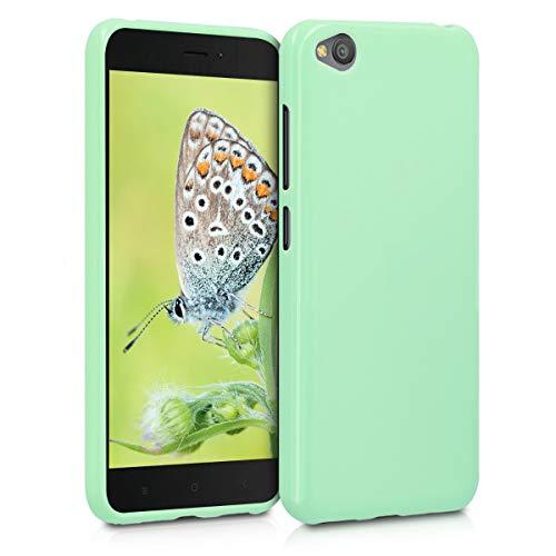 kwmobile Cover Compatibile con Xiaomi Redmi Go - Custodia in Silicone TPU - Backcover Protezione Posteriore- Menta Matt