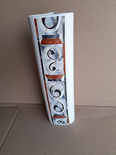 Diwi Aktuell Annemarie Wiegand 1 Stück Hängeverdunster/Luftbefeuchter für Rippenheizkörper weiß lasiert mit dekorativem Druck veredelt