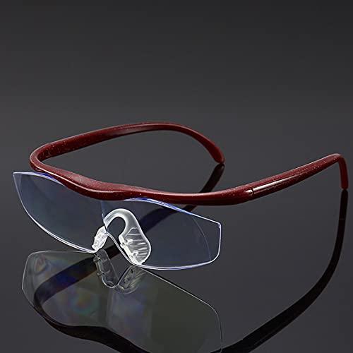 Persdico Modelos de explosión de visión Zoom 1,6 veces Anti-azul Una lupa UV400 Lectura Glasse Para los viejos