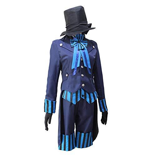 hengGuKeJiYo Schwarzer Ciel Phantomhive Blue Boy Butler Lolita Anzug Anime Unisex Cosplay Kostüme