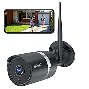 ieGeek 5MP Outdoor Security Wi-Fi Camera, IP67 Waterproof, Home CCTV Surveillance Bullet IP Camera, 30m Night Vision, Remote Viewing, Smart Humanoid Detection and Push Alerts for Android/iOS/PC