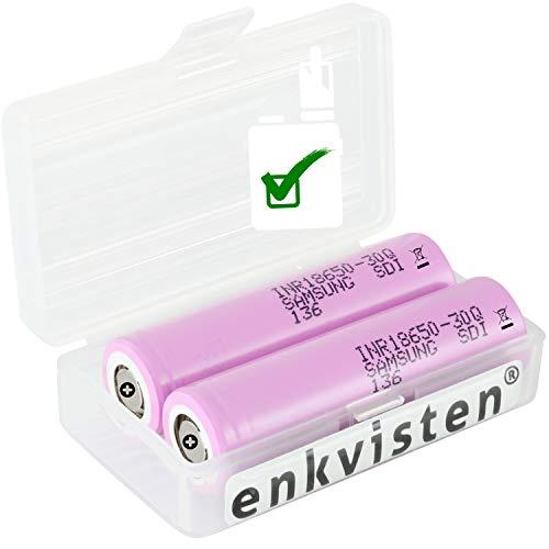 2 (Samsung) 30Q 18650 3000 mAh Akkus INR für E-Zigarette Batterien Akku Dampfen Akkus für dampfer E-Zigarette + Akkubox
