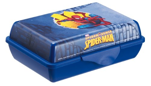 Rotho Babydesign 7739640159 -Creativ Funbox Boîte de rangement Motif Spiderman 0,9 l