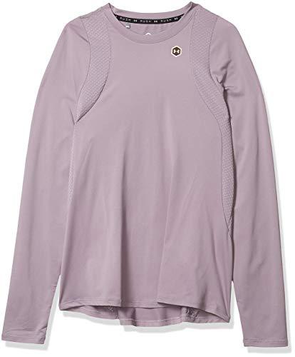 Under Armour Rush - Camiseta de Manga Larga para Mujer, Not Applicable, Rush - Manga Larga, Mujer, Color Pizarra Morado/Morado Pizarra/Iridiscente (585), tamaño Extra-Large