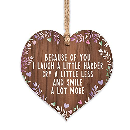Little gifts for friends keepsake   because of you I laugh a little harder...