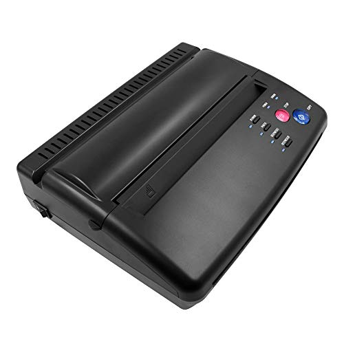 BMX Black Tattoo Transfer Stencil Machine Thermal Copier for Printing and Transferring The Tattoo Designs Picture onto The Skin of The Person Getting The Tattoo