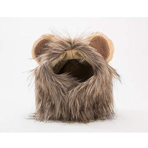 Disfraz de Perro de Halloween, Melena de león Peluca cómodo Gato león...